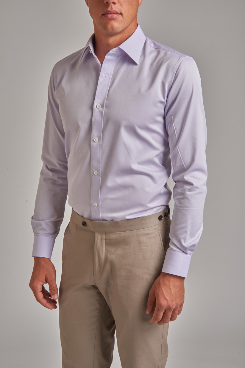 Chinos paired with a dress shirt is ideal for business casual