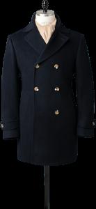 pea coat in navy blue