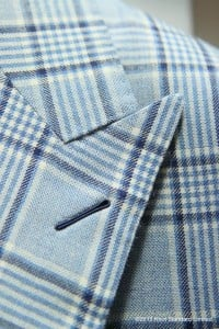 The Milanese button hole - if you couldn't tell by now, we're a little obsessed with it. That hours of effort can go into something so small, so subtle, speaks volumes of the suit and the man.