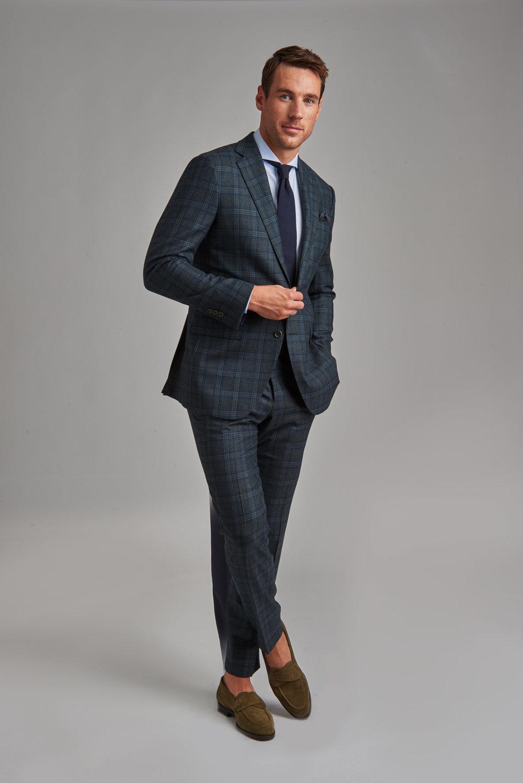 Signature Green Glenplaid Suit