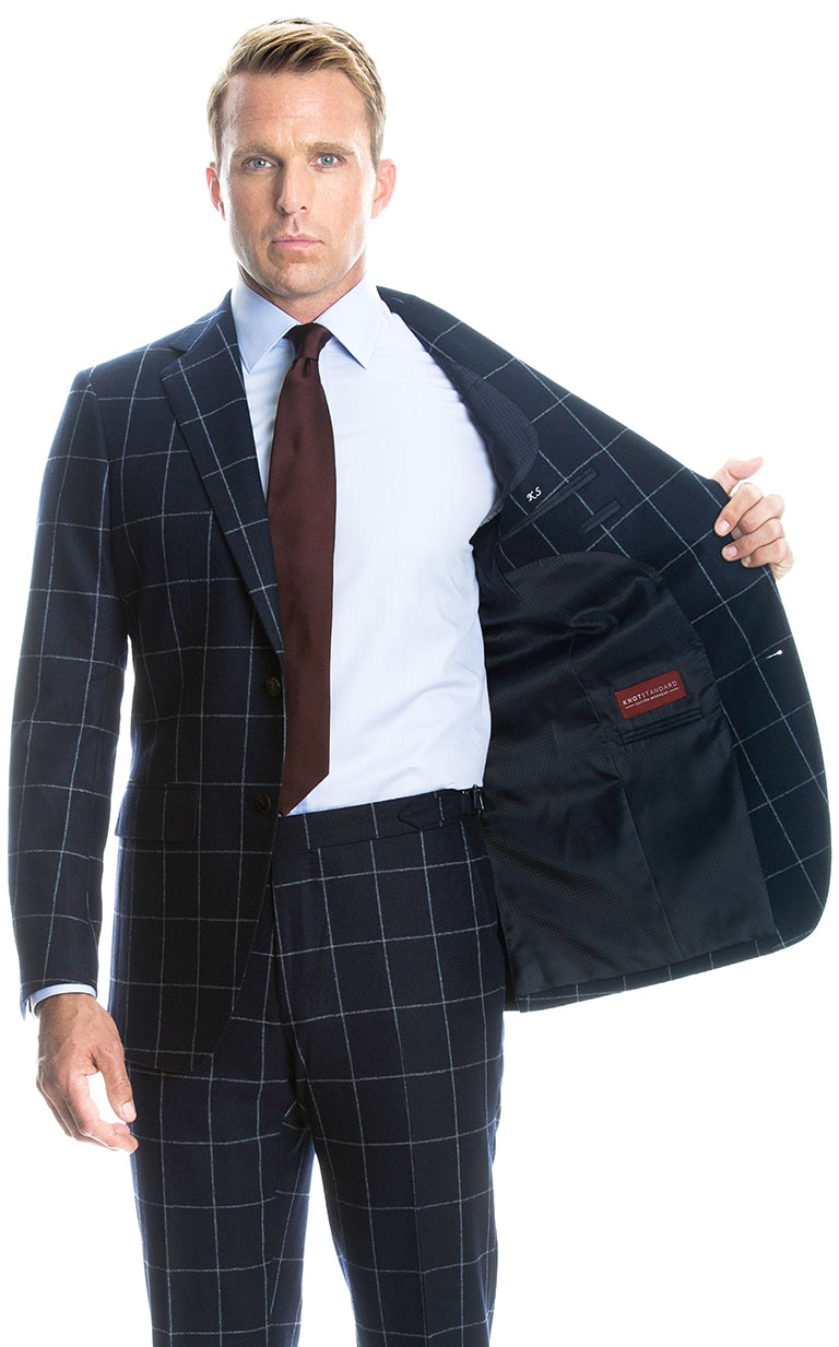 Tartan and plaid fabrics for striking suits