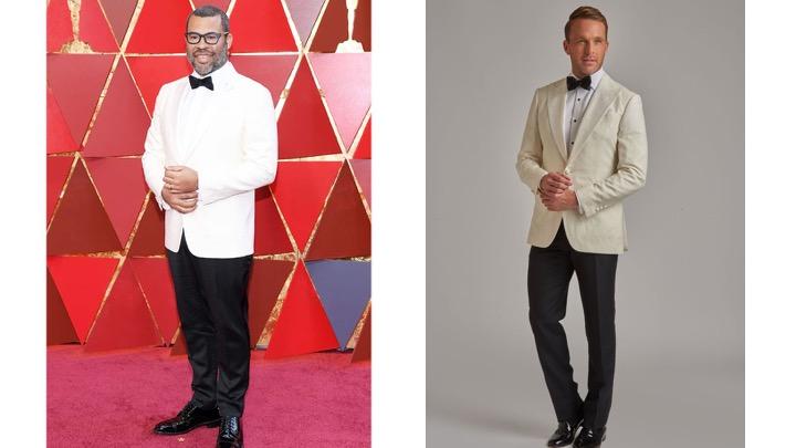 Jordan Peele in Calvin Klein                                 Knot Standard Kerry Knoll Dinner Jacket