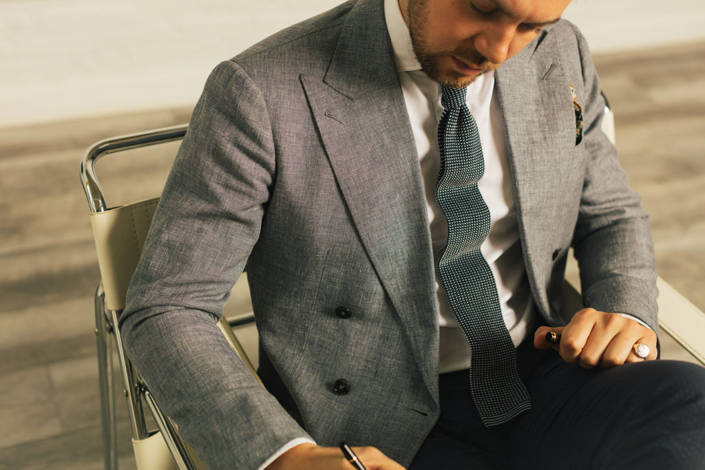 Buying a custom suit generally takes four to six weeks
